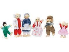 Goki Biegepuppen, Bauernfamilie 6 Personen (9-12 cm) - Spielzeug-Biegepuppen Bauernfamilie mit 6 Personen