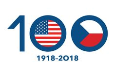 100 Years of USA-Czech Relationship Anniversary Logo, Chicago Cubs Logo, Celebration, Commercial, Relationship, Graphics, Usa, Logos, Poster