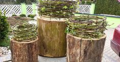 Family project, quick and easy, Papawerk, a project for the whole family … - Craft Ideas Basket Crafts, Made Of Wood, Crates, Diy Crafts, Family Family, Plants, Projects, Family Garden, Clever