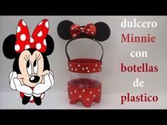 Dulcero de Minnie Mause con foamy y botellas de plástico - YouTube