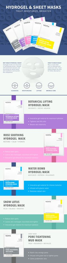 MOIRA Cosmetics Hydrogel Mask  Reduce age spots, dehydration, and problem skin with hydrogel mask. #Moirabeauty #MoiraCosmetics #Moira #Skincare #makeup #RoseMask  #facesheets #hydrogelmask #acne #pores #kbeauty