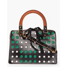 MARNI EDITION Black Perforated Tote ($1,525) ❤ liked on Polyvore