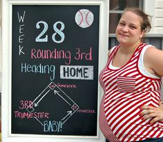 This is cute! I wish that I had thought about this with my last child! Weekly Pregnancy chalkboard #Chalkboard #Pregnancy Chalkboard #DIY Chalkboard