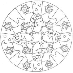 Mandala inverno pinguini