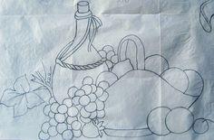 Pintura em Tecido Passo a Passo: PINTURA EM TECIDO CESTA DE FRUTAS E VINHO