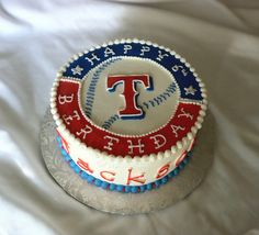 Texas Rangers Birthday Cake by The Cake Chic, via Flickr