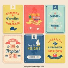 100 Vector Graphic Summer Logos, Badges and Labels Web Design, Retro Design, Logo Design, Graphic Design Typography, Graphic Design Illustration, Game Card Design, Summer Logo, Summer Poster, Beach Design