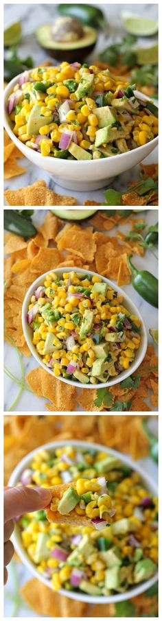 Avocado Corn Salsa - Tastes just like Chipotle's corn salsa.