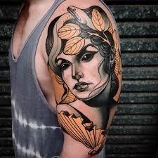 Resultado de imagem para neo traditional tattoo woman