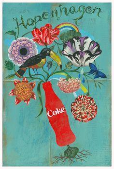 "Olaf Hajek: Unpublished poster campaign for Coca Cola ""HOPENHAGEN"""