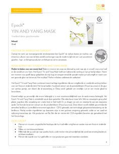 Epoch Yin and Yang Mask - The Beauty Guide Epoch Yin and Yang Mask Nu Skin, Beauty Guide, Epoch, Yin Yang, Face, The Face, Faces, Facial