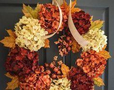 Collective-beautiful fall wreath, yellow, orange, cream #affiliatelink #ad