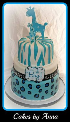 Safari baby shower cake Safari Baby Shower Cake, Baby Shower Giraffe, Baby Shower Cakes For Boys, Baby Shower Desserts, Baby Shower Themes, Shower Ideas, Shower Baby, Baby Showers, Cheap Baby Shower Favors