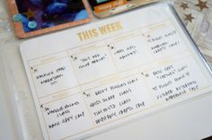 "Love this ""this week"" card"
