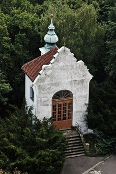 Church of Sv Vavrinec from Petrin Hill Prague