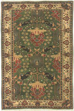 Nejad Rugs Design T049 Emerald / Ivory www.nejad.com
