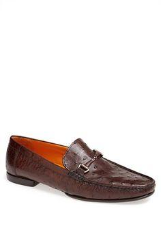 Men's Mezlan 'Vittorio' Ostrich Leather Bit Loafer