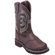 Justin Boots Women's WKL9984 Brown Steel Toe Waterproof Gypsy Cowboy B