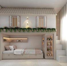 Helpful Techniques For kids bedroom organization Kids Bedroom Designs, Cute Bedroom Ideas, Cute Room Decor, Room Ideas Bedroom, Kids Room Design, Awesome Bedrooms, Home Bedroom, Bedroom Decor, Kids Decor