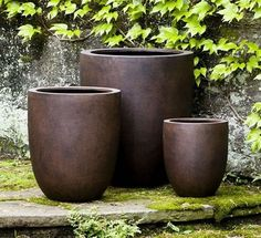 Campania International Bradford Round Planter Set of 3 The Campania International Bradford Round Planter Set of 3 is part of the Campania garden planters designed for rooftop, balcony, and areas that