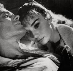 "Audrey Hepburn and Mel Ferrer, ""War and Peace"", 1955"