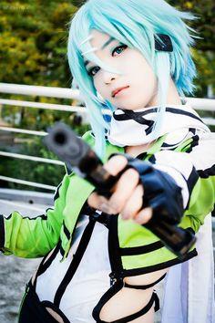 SinonCosplay (Anime: Sword Art Online, saison 2 ❤️ GGO)