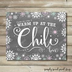Winter Wonderland Onederland Chili Bar by SimplySweetPrintShop