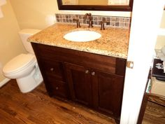 granite is installed sink is hooked up and backsplash is waiting to