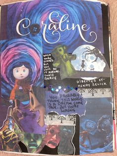 Bullet Journal Lettering Ideas, Bullet Journal Writing, Bullet Journal Ideas Pages, Coraline Film, Movie Collage, Tim Burton, Cute Journals, Art Diary, Journal Aesthetic