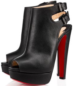 Christian Louboutin 'Strapagada' Platform 150mm Red Sole Booties