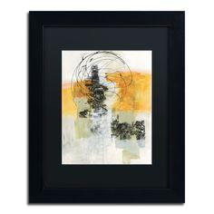 Jane Davies 'Action II' Black Matte, Black Framed Wall Art by Trademark Fine Art