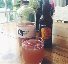 Wolf Moon Summer Shandy *1/2 Wolf Moon Hibiscus Cocktail Mix *1/2 Beer
