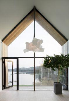 Villa Bondö by Kjellgren Kaminsky Architecture - Nordic Design Gable Roof Design, Gable House, Roof Architecture, Architecture Journal, Decorating With Pictures, Decoration Pictures, Hip Roof, Roof Styles, Swedish House