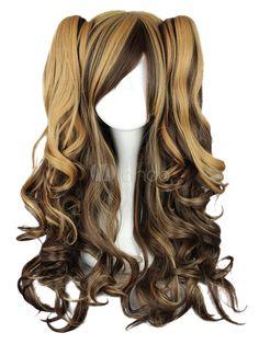 Elegant Long Curly Rayon Fashion Lolita Wig - Milanoo.com