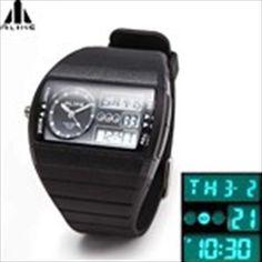 (ALIKE) Multifunction Water Resistant Digital Sports Watch for Boy Man Male Digital Sports Watch, Digital Watch, Casio Watch, Mens Fashion, Watches, Boys, Stuff To Buy, Accessories, Moda Masculina
