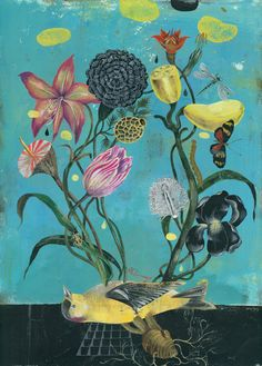 Olaf Hajek is a German-based illustrator, painter, artist, graphic designer and author. Art And Illustration, Animal Illustrations, Art Floral, Olaf, Strange Flowers, Design Graphique, Photo Projects, Community Art, Botanical Art