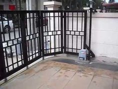 Remote Control Gates - Automatic Sliding Gates Manufacturer from . Front Gate Design, House Gate Design, Door Gate Design, Fence Design, Sliding Fence Gate, Front Gates, Entrance Gates, Aluminium Gates, Metal Gates