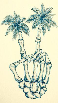 Skeleton Palm trees