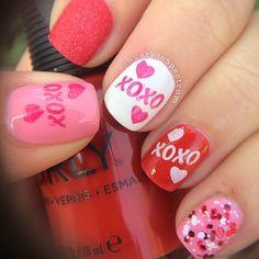 VALENTINE by sparklespectrum #nail #nails #nailart