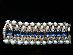 Further Discount Elegant Blue Trifari and by ShermanJewelsandmore