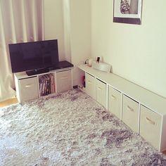 女性で、のシンプル/収納/一人暮らし/カラーボックス/部屋全体についてのインテリア実例を紹介。(この写真は 2014-09-14 09:35:36 に共有されました)
