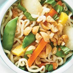 Here's what you do. Make Thai Veggie Noodle Bowls the night before and reheat for lunch the next day.