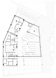 District of Columbia Public Library / The Freelon Group Architects First Floor Plan