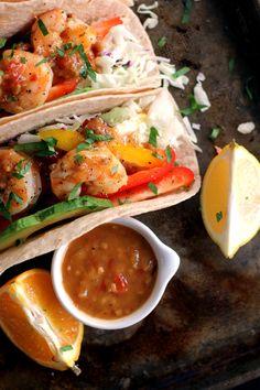 Rosemary Citrus Shrimp Tacos | Melanie Makes melaniemakes.com #shrimp #tacos
