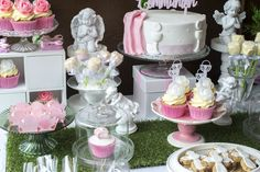 First Holy Communion sweet table decor First Holy Communion, Tiered Cakes, Holi, Table Decorations, Sweet, Party, Candy, Fiesta Party, First Communion