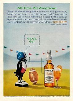 Old Crow #bourbon 1965 #football #superbowl