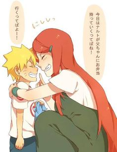 Naruto and Kushina: I want to be the kind if mom Kushina was and would have been!