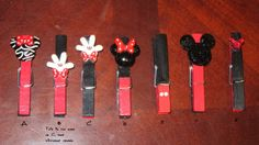 Magnetic Mickey Mouse or Minnie Mouse by MickeyHairbows on Etsy