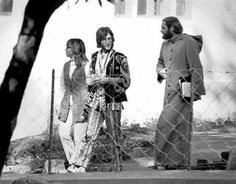 John Lennon (Beatles) and Mike Love (Beach Boys) in India