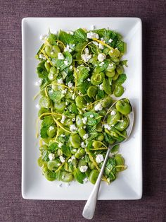 A luscious and cooling side dish full of fresh, springtime flavours.